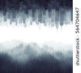 forest city haze   3d... | Shutterstock . vector #564704647