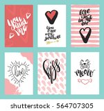 set of greeting cards for... | Shutterstock .eps vector #564707305