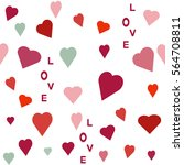 seamless  pattern with heart.... | Shutterstock .eps vector #564708811