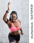 medium shot of black female... | Shutterstock . vector #564709939