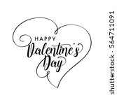 happy valentines day modern... | Shutterstock .eps vector #564711091