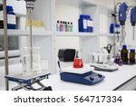 laboratory device and equipment ... | Shutterstock . vector #564717334