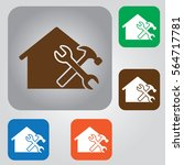 home repair icon.  | Shutterstock .eps vector #564717781