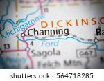 channing. michigan. usa   Shutterstock . vector #564718285