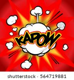 explosion cloud in comic style.  | Shutterstock .eps vector #564719881