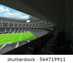 3d render of a round rugby... | Shutterstock . vector #564719911