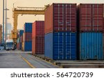 container container ship in... | Shutterstock . vector #564720739