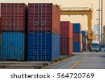 container container ship in... | Shutterstock . vector #564720769