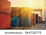 container container ship in... | Shutterstock . vector #564720775