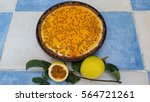 passion fruit cheesecake   Shutterstock . vector #564721261