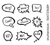 hand drawing marker speech... | Shutterstock .eps vector #564725689