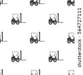 forklift icon in black style... | Shutterstock .eps vector #564727111