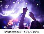 crowd at popular music concert. ... | Shutterstock . vector #564731041