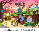a group of dwarfs is searching... | Shutterstock .eps vector #564747631