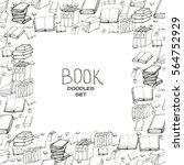 book doodle frame   Shutterstock .eps vector #564752929