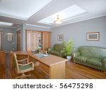 3d interior cabinet and classic ... | Shutterstock . vector #56475298