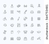 modern thin line icons of law... | Shutterstock .eps vector #564753481