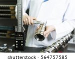 technical person making quality ...   Shutterstock . vector #564757585