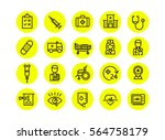line icons set of healthcare... | Shutterstock .eps vector #564758179