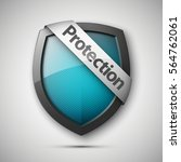protection shield concept with...   Shutterstock .eps vector #564762061