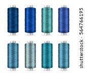 thread spool set. bright... | Shutterstock .eps vector #564766195