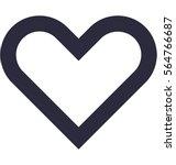 heart vector icon | Shutterstock .eps vector #564766687