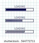 loading progress status bar... | Shutterstock .eps vector #564772711