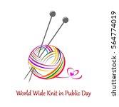world wide knit in public day....   Shutterstock . vector #564774019