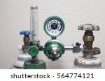 oxygen cylinder and regulator... | Shutterstock . vector #564774121