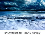 Ocean And Sea Storm.cloudy Sky...