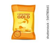 crisp potato chips snacks... | Shutterstock .eps vector #564780661