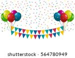 happy birthday background with... | Shutterstock .eps vector #564780949