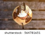 smoothie decorated chocolate... | Shutterstock . vector #564781651
