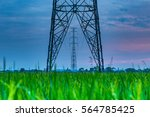 high voltage electricity... | Shutterstock . vector #564785425