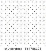 cross and dot pattern white... | Shutterstock .eps vector #564786175