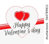 happy valentine's day greeting... | Shutterstock .eps vector #564789811