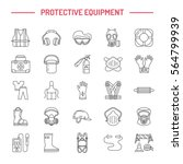 personal protective equipment... | Shutterstock .eps vector #564799939