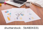 business document in office... | Shutterstock . vector #564804331