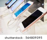 mobile smartphone in electronic ... | Shutterstock . vector #564809395