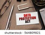 business still life. data... | Shutterstock . vector #564809821