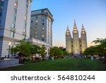 salt lake temple in  salt lake... | Shutterstock . vector #564810244