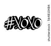 hashtag xoxo  isolated sticker  ... | Shutterstock .eps vector #564810484