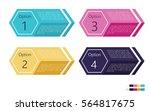 info graphic hexagon options in ... | Shutterstock .eps vector #564817675