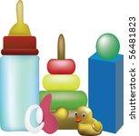 children toys | Shutterstock .eps vector #56481823