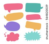 collection of colorful bright... | Shutterstock .eps vector #564820039