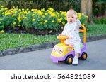asian little cute toddler baby...   Shutterstock . vector #564821089