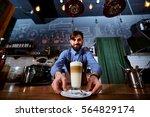 barman barista uniform making... | Shutterstock . vector #564829174