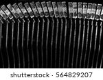 closeup of old typewriter... | Shutterstock . vector #564829207