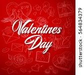valentines day background | Shutterstock .eps vector #564834379