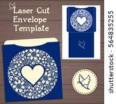 wedding invitation or greeting... | Shutterstock .eps vector #564835255